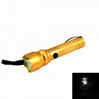 KINFIRE K10S Mini 3W LED 180lm 3-Mode White Light Flashlight - Golden (1 x AA / 1 x 14500)