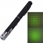 SingFire SF-LPG8 5mW 532nm Aluminum Alloy Gypsophila Pattern Green Laser Pen - Black (2 xAAA)