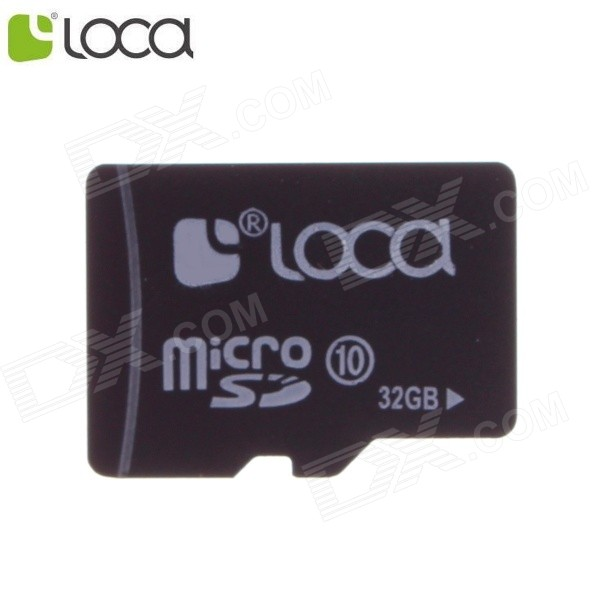 LOCA Micro SDHC TF Memory Card - Black (32GB / Class 10) patriot memory high quality c4 32gb micro sdhc tf memory card with card adapter black