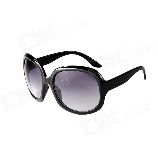 Reedoon PC Frame Resin Lens UV400 Protection Sunglasses for Women - Black reedoon 1417 trend of the goddess hip hop sunshade sunglasses black golden