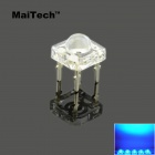 MaiTech 5mm LED High Brightness Blue Light Emitting Diodes - Transparent (10 PCS)