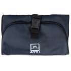 AOTU B031 Outdoor Portable Water Resistant Wash Bag w/ Mirror - Dark Blue