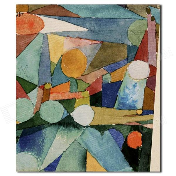 Hand Painted Abstract Colour Shapes Canvas Oil Painting