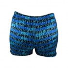 K8003 Men's Polyester + Spandex Boxer Swimming Hot Spring Trunks - Blue + Black (XL)