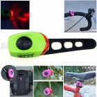 ZHISHUNJIA Waterproof 30lm 1-LED Red Light 2-Mode Warning Bike Light - Blue + Black (2 x CR1220)