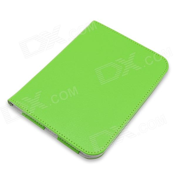 Litchee Pattern Protective PU Leather Case Cover for Nook GlowLight / Nook 4 - Green