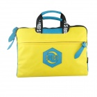 "LSS LSS-58 14"" Portable Nylon Laptop Bag - Yellow + Blue + Black"