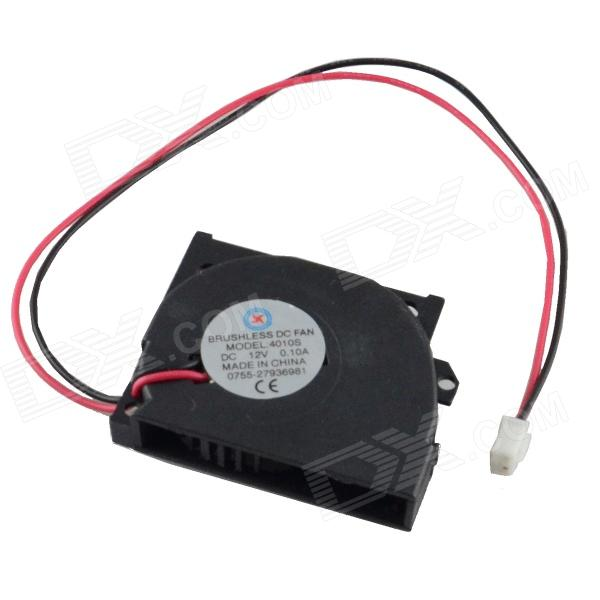 AV-0.1A 2-Pin HDD 35-Blade Fan Cooling - Black + Red (12V / 40 x 10mm)