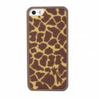 Cute Giraffe Pattern Case Cover for IPHONE 5 / 5S- Coffee + Light Brown