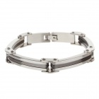 Fashionable 316L Stainless Steel Anti Allergic Bracelet for Men - Silver