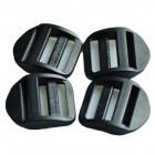 Acecamp 7051 25mm Luggage Strap Adjuster Tension Ladder Lock Buckle - Black (4 PCS)