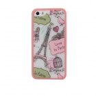 Protective TPU Painting Cover for IPHONE 5 / 5S - Pink + Multicolored