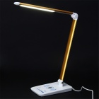 YEALUX TL1403W Wireless Charging Table Lamp for IPHONE, Samsung, HTC, Google Nexus - White + Golden