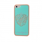 Fashion TPU Heart Shape Case for IPHONE 5 / 5S - Cyan