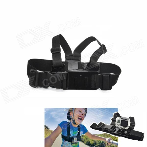 BZ Mini Kid Adjustable Chest Mount Harness Camcorder Shoulder Strap for Gopro Hero 4/ 3+/3/2/SJ4000 fashionable soft cotton hat for 0 3 years old baby navy