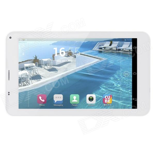 Cube U51GTC4 7 HD IPS Quad Core Android 4.2.2 Dual Standby Smart Tablet w/ 1GB RAM, 8GB ROM - White sosoon x88 quad core 8 ips android 4 4 tablet pc w 1gb ram 8gb rom hdmi gps bluetooth white