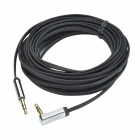 UGREEN 10729 3.5mm Male to 3.5mm Male (L Shape) Flat Stereo Deluxe Audio Cable - Black (500cm)