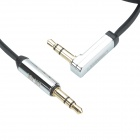 UGREEN 10598 3.5mm Male to 3.5mm Male (L Shape) Flat Stereo Deluxe Audio Cable - Black (150cm)