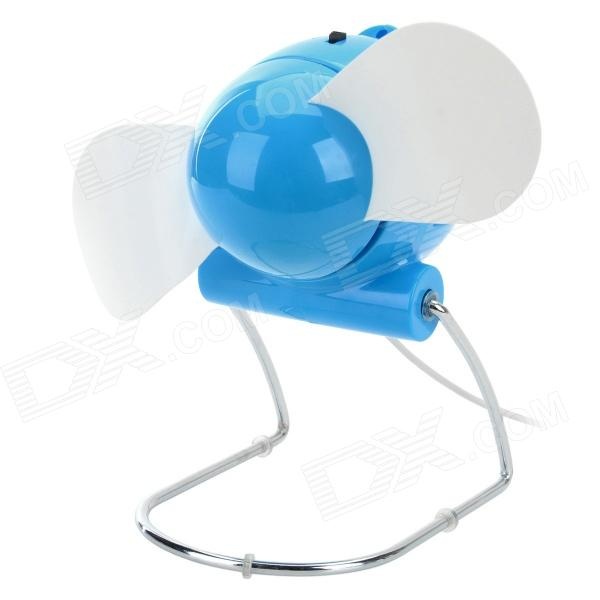 Mini Foldable AA Battery / USB-powered 2-blade Electric Fan - Blue good working original used for 42le4500 eay60803102 pldf l907a power supply 3pcgc10008a r