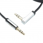 UGREEN 10728 3.5mm Male to 3.5mm Male (L Shape) Flat Stereo Deluxe Audio Cable - Black (300cm)