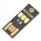 Noceda ultradünne Mini LED 0,2 W 3-2835 USB Mobile Power Light - Schwarz