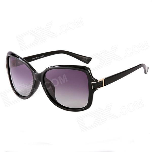 Reedoon 40102 Personality Fashion Ladies' Polarized Sunglasses - Black + Grey reedoon 1417 trend of the goddess hip hop sunshade sunglasses black golden