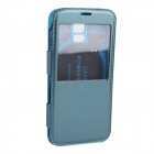 5V 2800mAh External Battery Power Back Case w / PU-Leder Tasche für Samsung Galaxy S5 - Blau
