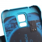 5V 2800mAh External Power Back Battery Case w/ PU Leather Cover for Samsung Galaxy S5 - Blue