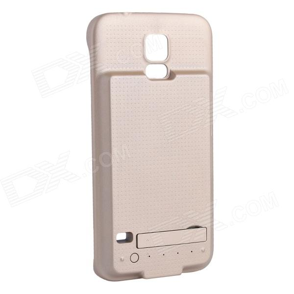 5V 2800mAh External Power Back Battery Case for Samsung Galaxy S5 - Golden 1pcs lot battery holder box case 3x aa 4 5v with switch
