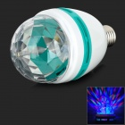 Chuanzezhaoming E27 3W 180lm 1-LED RGB Light Rotating Bulb - White + Light Blue (AC 100~240V)