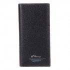 Rich Age HY33267 Men's Stylish Leather Long Style Wallet Purse - Black