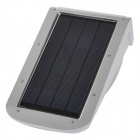LetterFire Outdoor Solar Powered 3W 100lm 6000K 38-SMD 3528 LED White Wall Light - White + Black