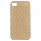 HELLO DEERE Grid Shining Pattern Protective PC Back Case for IPHONE 4G / 4S - Golden