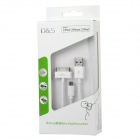 MFi D & S DSM1301 USB mannlige til Apple 30-pinners + Micro USB-kabel for iPhone / iPad / iPod - hvit (150 cm)