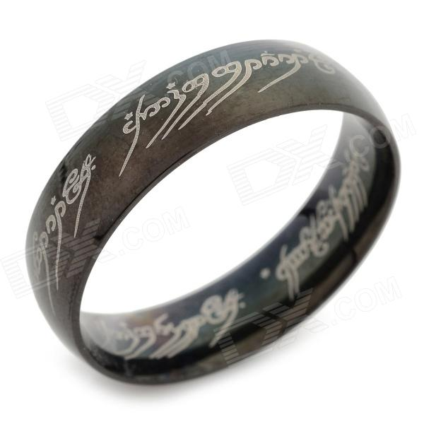 Ring-to-rule-them-all 316L Stainless Steel Ring - Black (Size 11.5) ring to rule them all 316l stainless steel ring black size 11 5