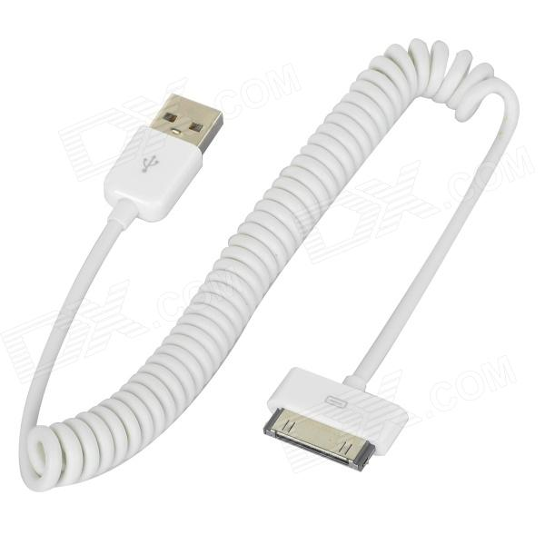 mfi-ds-dsm1113-apple-30-pin-male-to-usb-male-curly-cable-for-iphone-ipad-ipod-white-150-cm