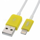 MFi D&S DSM1130 USB Male to 8-Pin Lightning Male Cable for iPhone / iPad / iPod - Yellow (100 cm) [фото3]