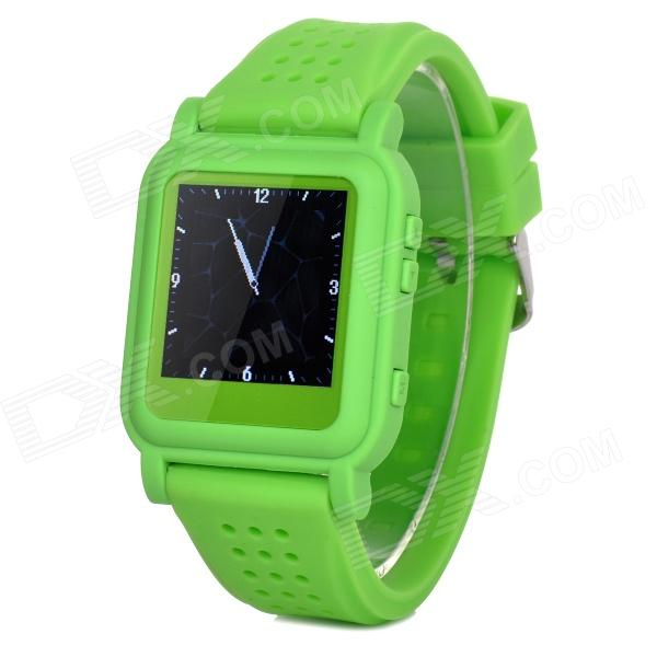 цена на Q998 1.5 TFT Screen MP4 Multimedia Wristwatch - Green + Silver (2GB / Li-ion Battery)