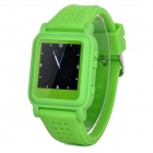 "Q998 1.5"" TFT Screen MP4 Multimedia Wristwatch - Green + Silver (2GB / Li-ion Battery)"