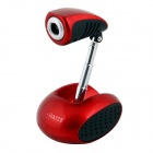 BLUELOVER S11 USB 2.0 300KP Wired Webcam w/ Microphone - Red