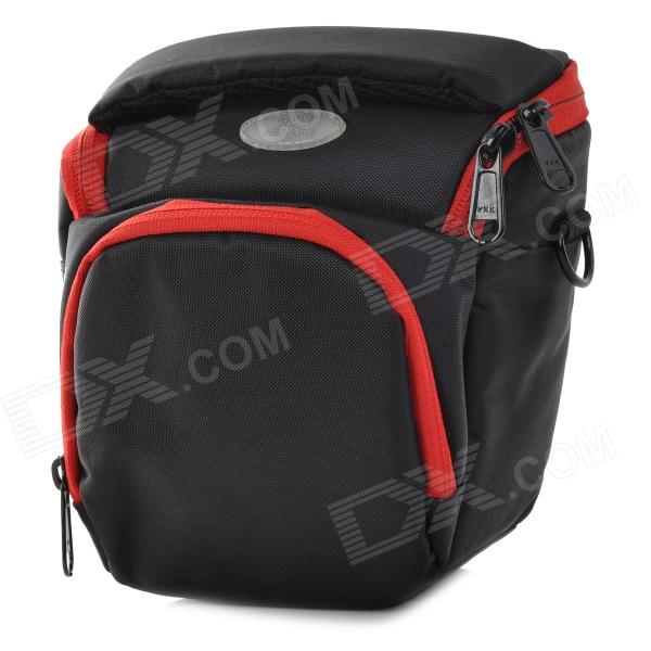 Universal Nylon Camera Bag Case for Sony NEX-5R / 3N / F3 + Nikon J1V1 + More - Black + Red (S) мелоксикам тева таблетки 7 5 мг 20 шт