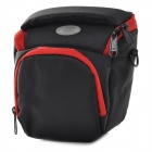 Universal Nylon Camera Bag Case for Sony NEX-5R / 3N / F3 +  Nikon J1V1 + More - Black + Red (S)