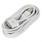 MFi D&S DSM1111 USB Male to Apple 30-pin Male Cable for iPhone / iPad / iPod - White (300 cm)