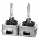 Carfud D1C / D1S 35W 3000lm 6000K Car HID White Light Lamp - Silver + Transparent (2 PCS / AC 9~16V)