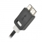 USB 3.0 to USB 2.0 Male Data Sync / Charging Cable for Samsung Galaxy S5 - Black + White (150cm)