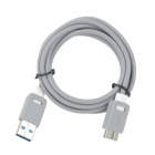 USB 3.0 Male to USB 2.0 Male Data Sync / Charging Cable for Samsung Galaxy S5 - Grey + White (150cm)