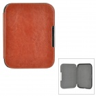 Protective Flip-Open PU + Micro Fiber Case w/ Magnetic Closure for Nook 4 - Coffee + Brown