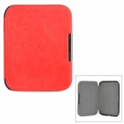 Protective Flip-Open PU + Micro Fiber Case w/ Magnetic Closure for Nook 4 - Red
