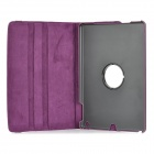 Protective Flip-Open 360 Degree Rotary PU + PC Case w/ Stand / Auto Sleep for IPAD AIR - Purple
