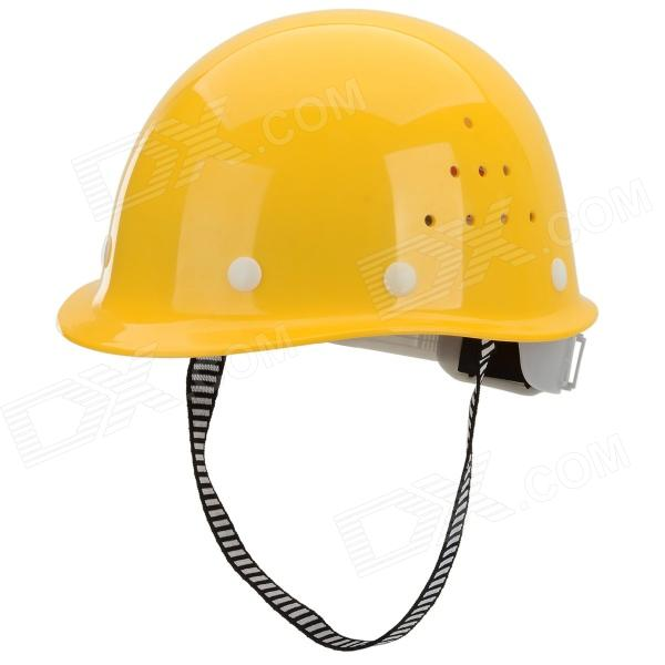 Ajustable anti-hit transpirable Glass Fiber Reinforced Plastic + ABS + PE Casco Seguridad para Trabajadores